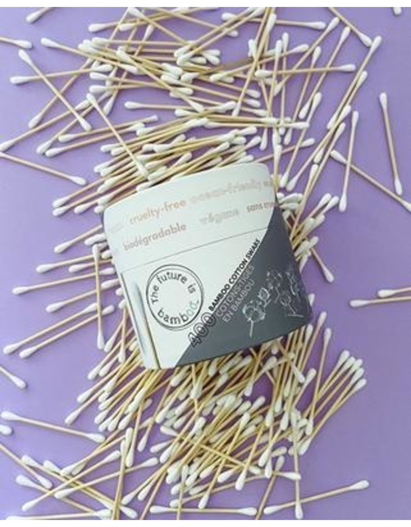 The Future is Bamboo Biodegradable Cotton Swabs (400 counts)