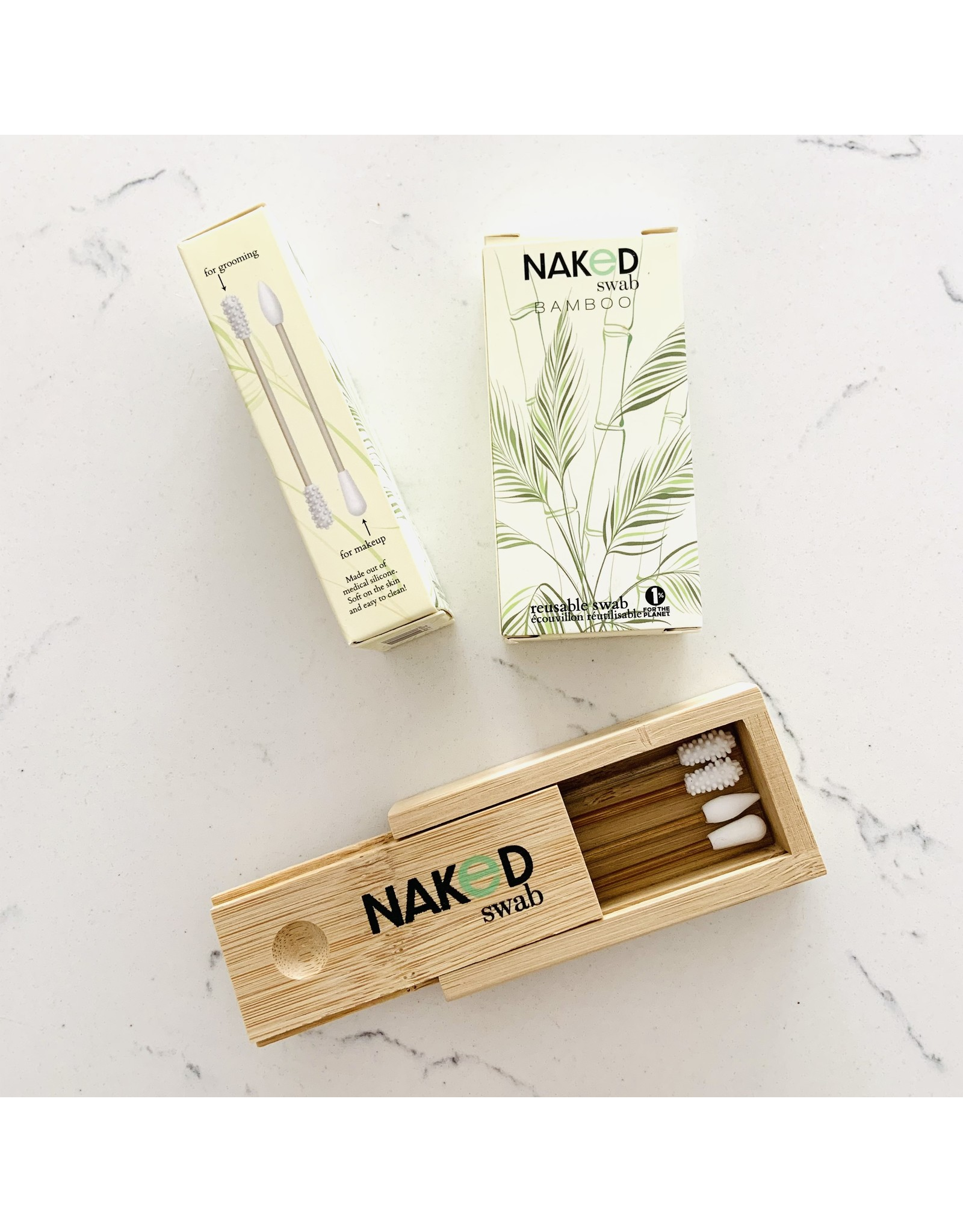 NakedSwab NakedSwab Bamboo and Silicone Swabs
