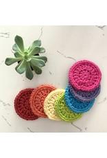 EcoFillosophy Reusable Crochet Facial Rounds - Rainbow 7-Pack