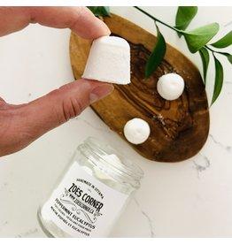 Zoe's Corner Peppermint Eucalyptus Foot Fizzies in a Jar