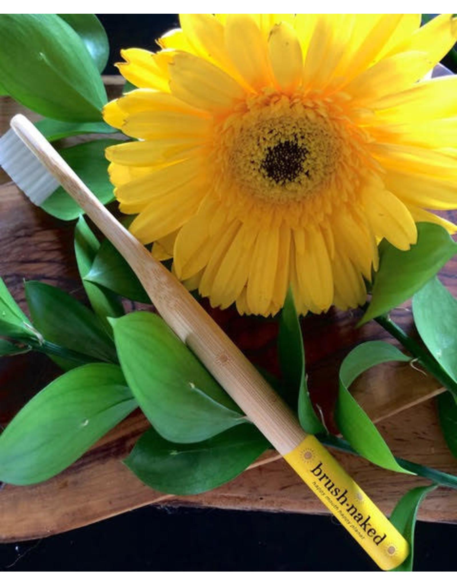 Brush Naked Bamboo Toothbrush, Adult