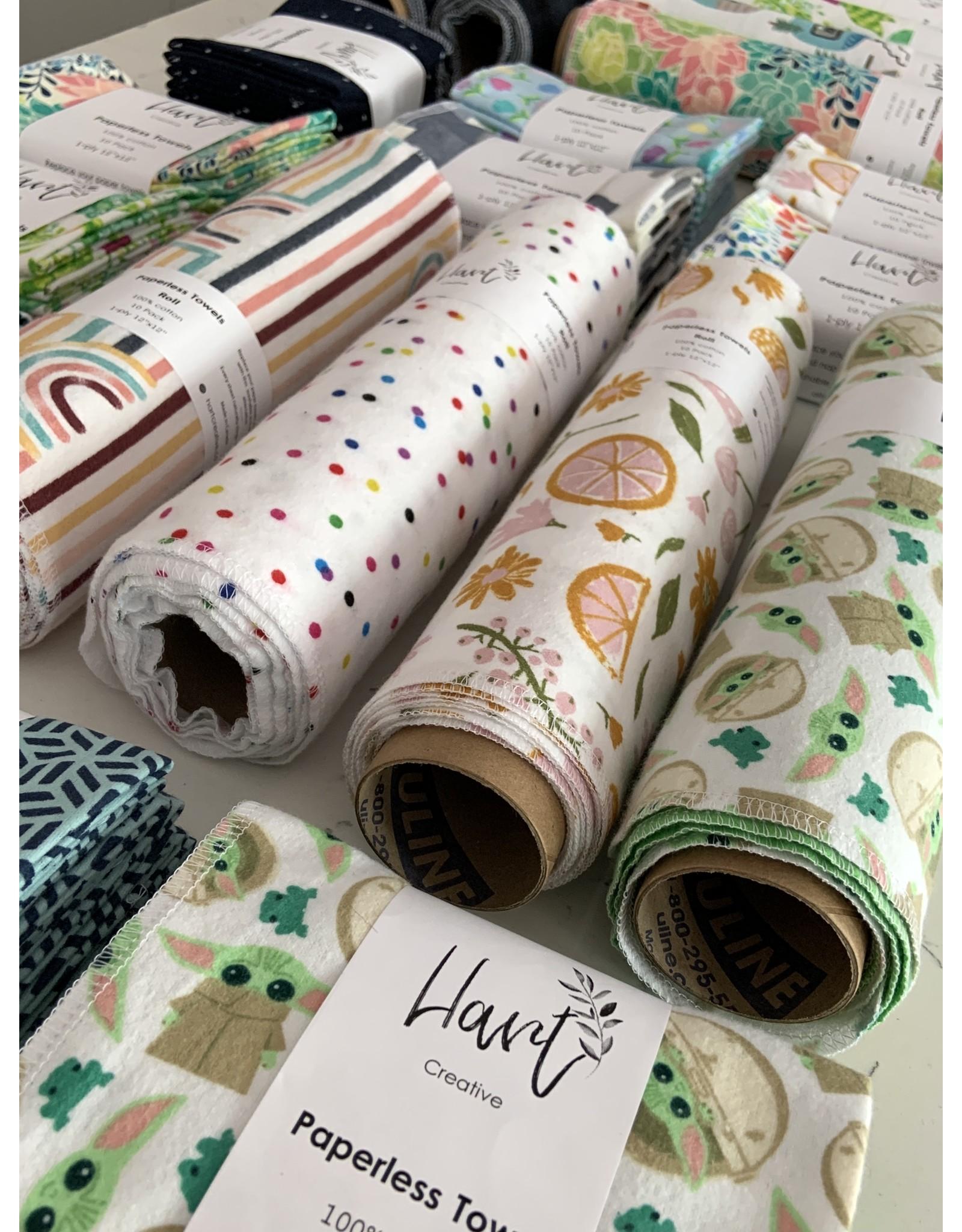 Hart Creative Co. Reusable Cloth Paperless Towels