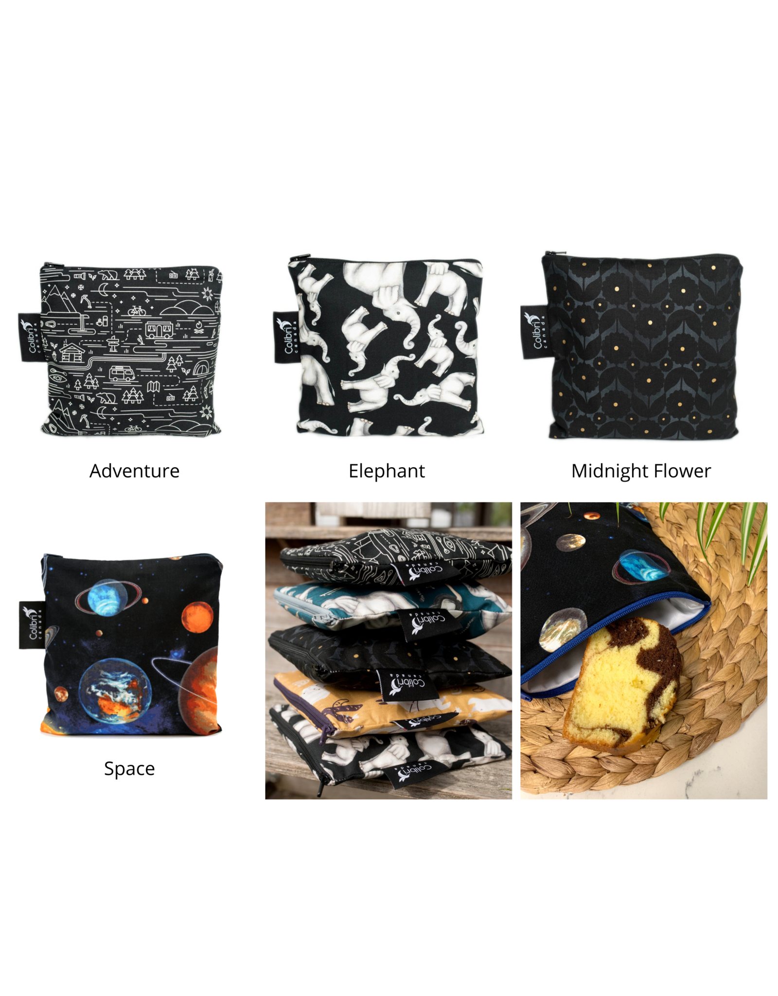 Colibri Reusable Cloth Snack Bag - Large