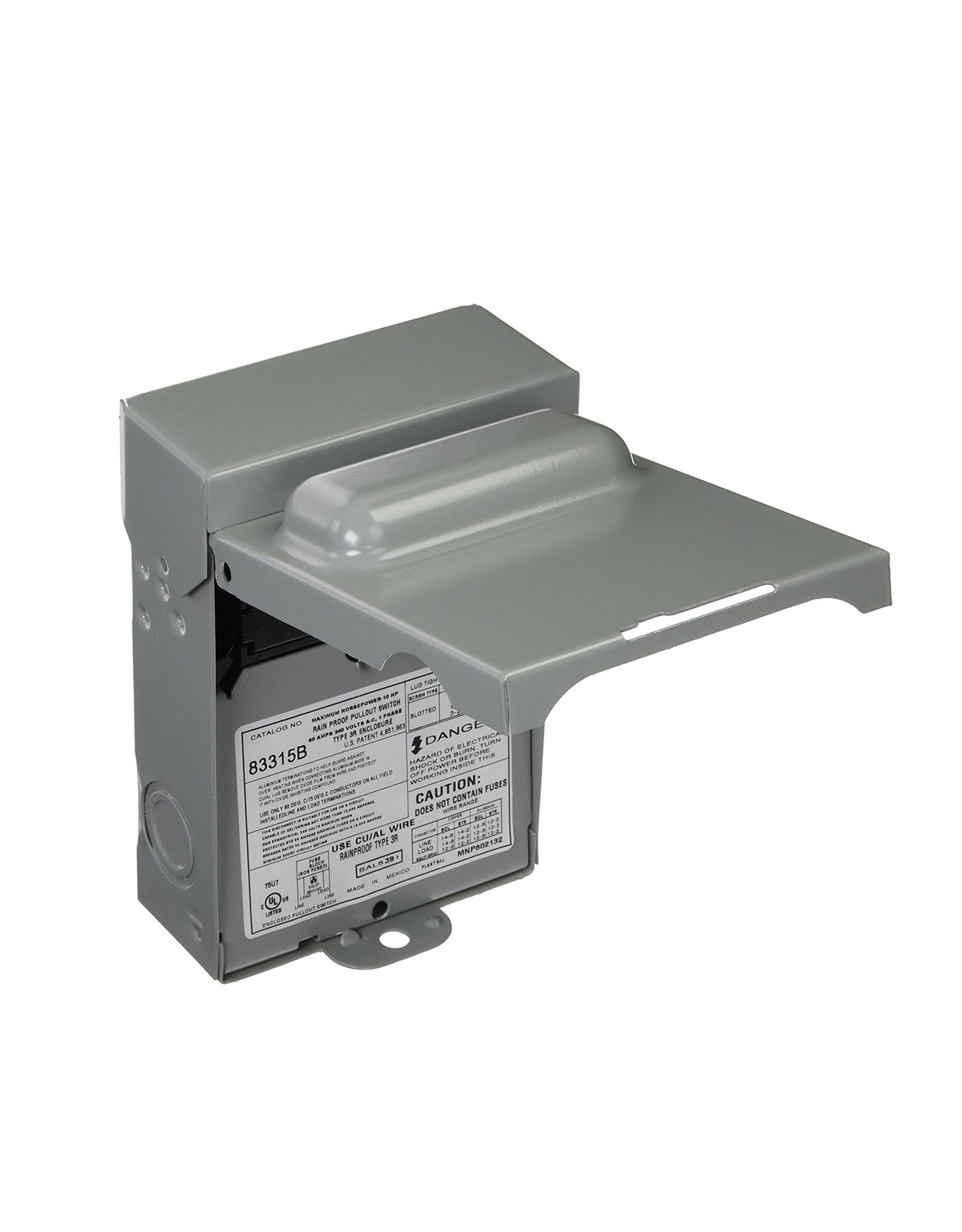 Motors and Armatures Inc. Non-fused Disconnect Switch 60A