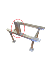 Aluminum Stands NOA Approved Electrical Box Support for I-Beam  Support Rails