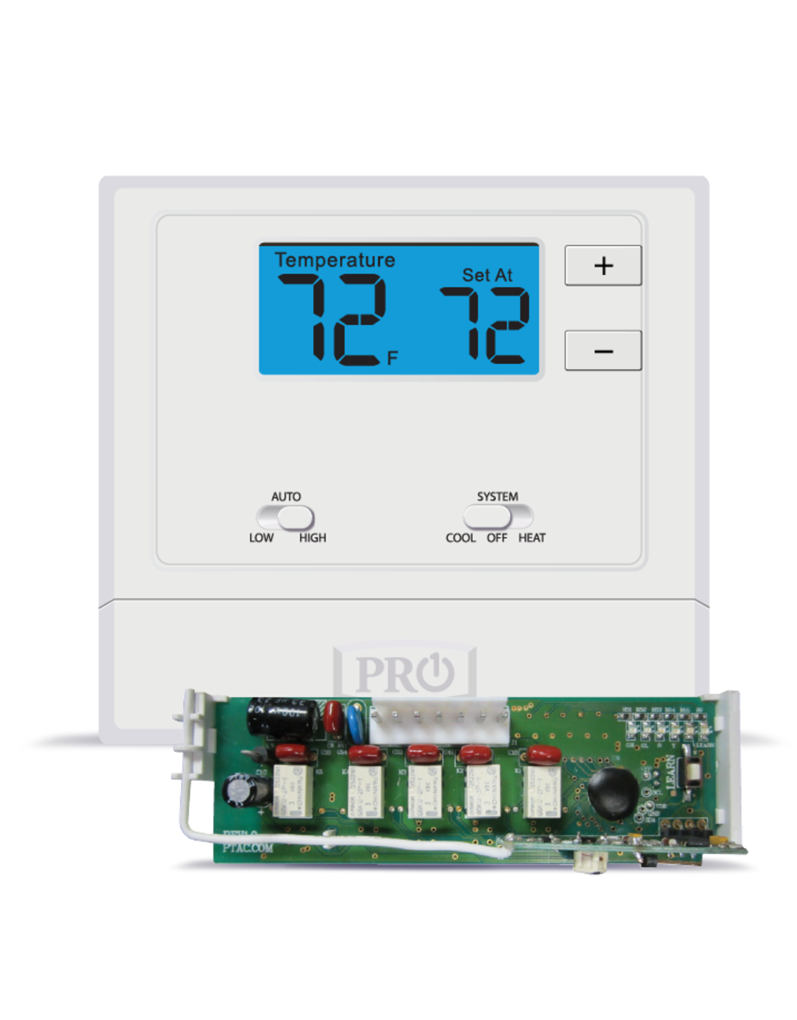 Pro1 T631W-2 Wireless PTAC Non-Programmable T-stat, Heat-Pump or Conventional
