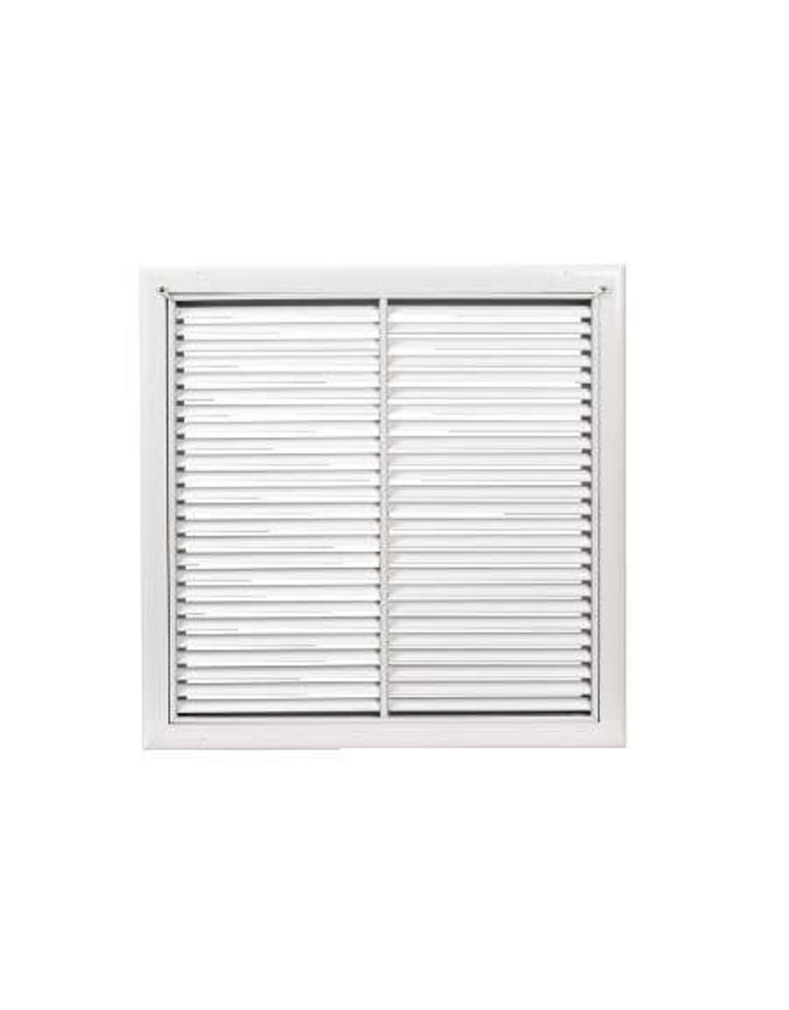 AirGuide Manufacturing LLC Return Filter Grille with 38° fixed blades for duct size