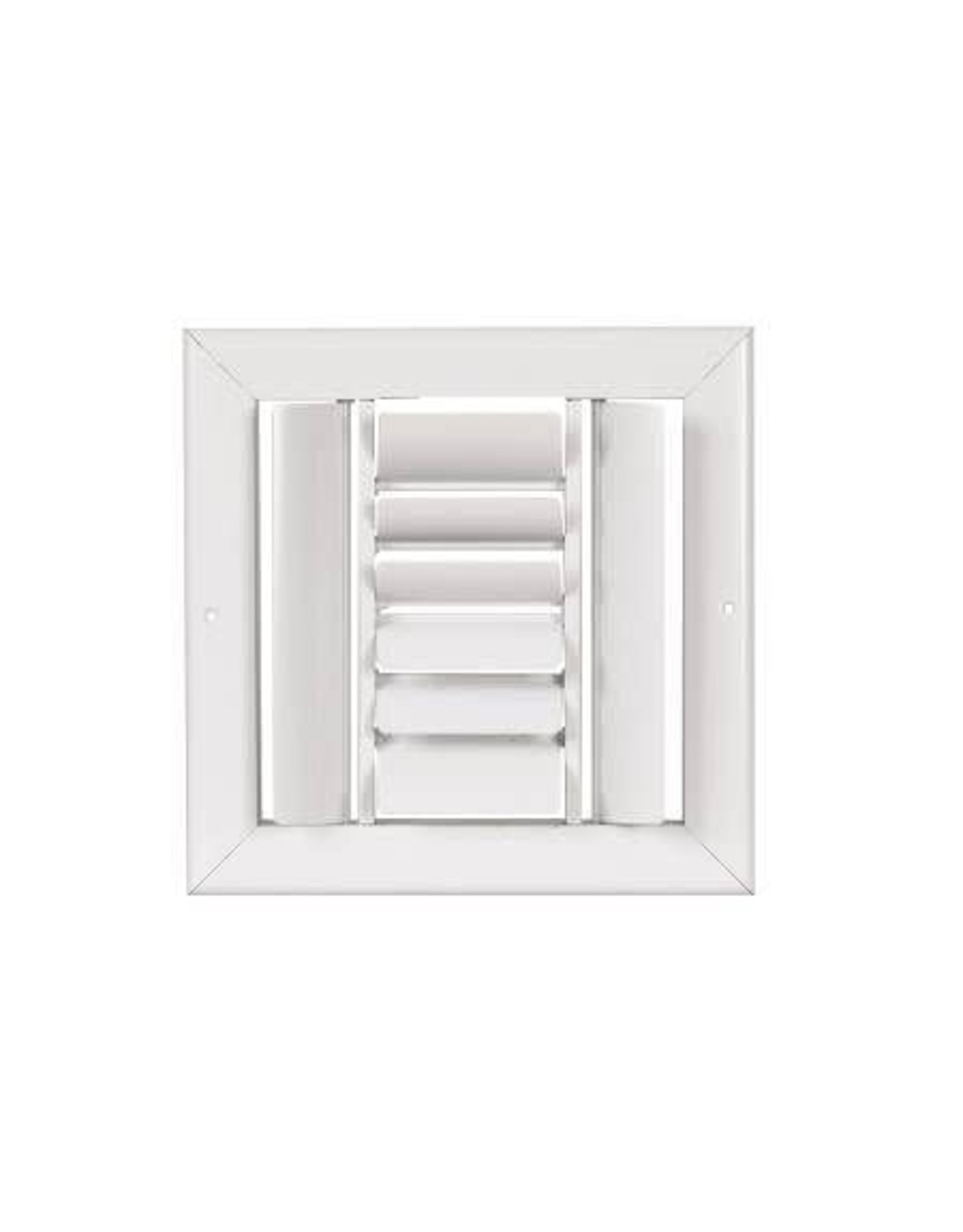 AirGuide Manufacturing LLC Ceiling Grille 4-way Curved Blade Supply Register with Square Contour Frame and Parallel Blade Damper