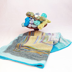 CLAUDIA HAND PAINTED YARNS  Square One Baby Blanket Kit