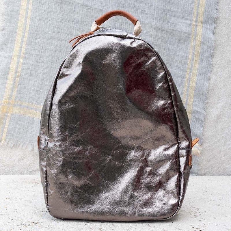 UASHMAMA UASHMAMA  Memmo Metallic Backpack