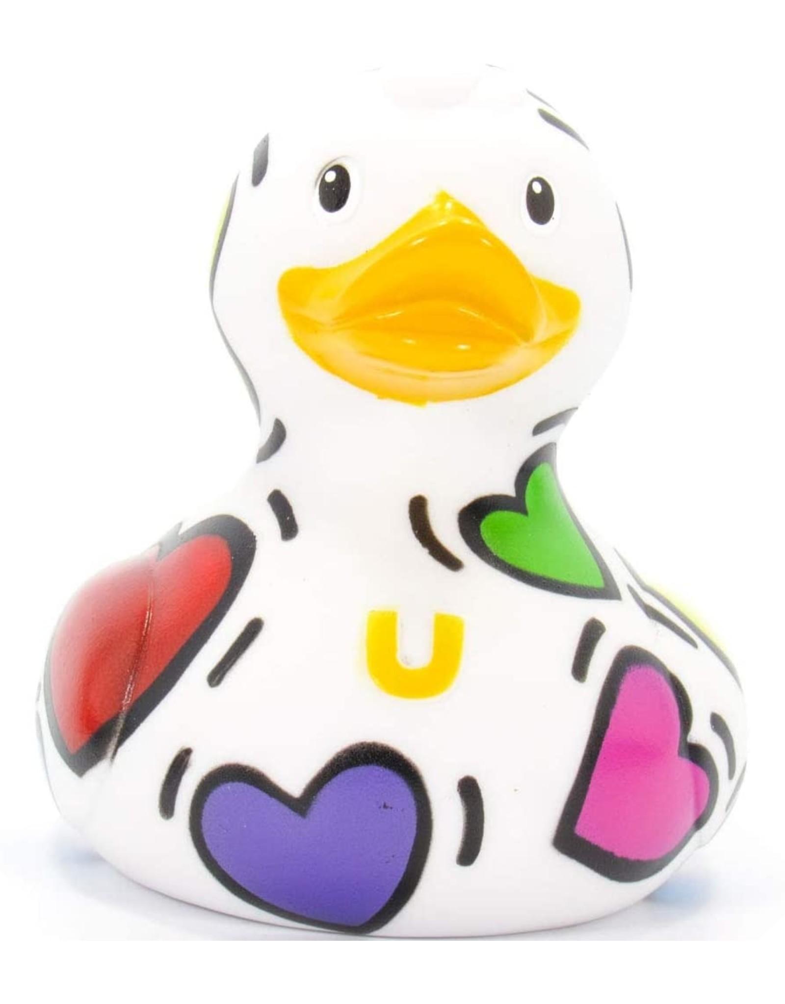 Pop Heart Rubber Duck