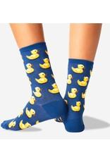 Women's Rubber Duck Crew Socks - Blue