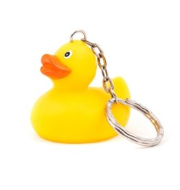 Just Ducks Own Classic Rubber Ducky Key Chain