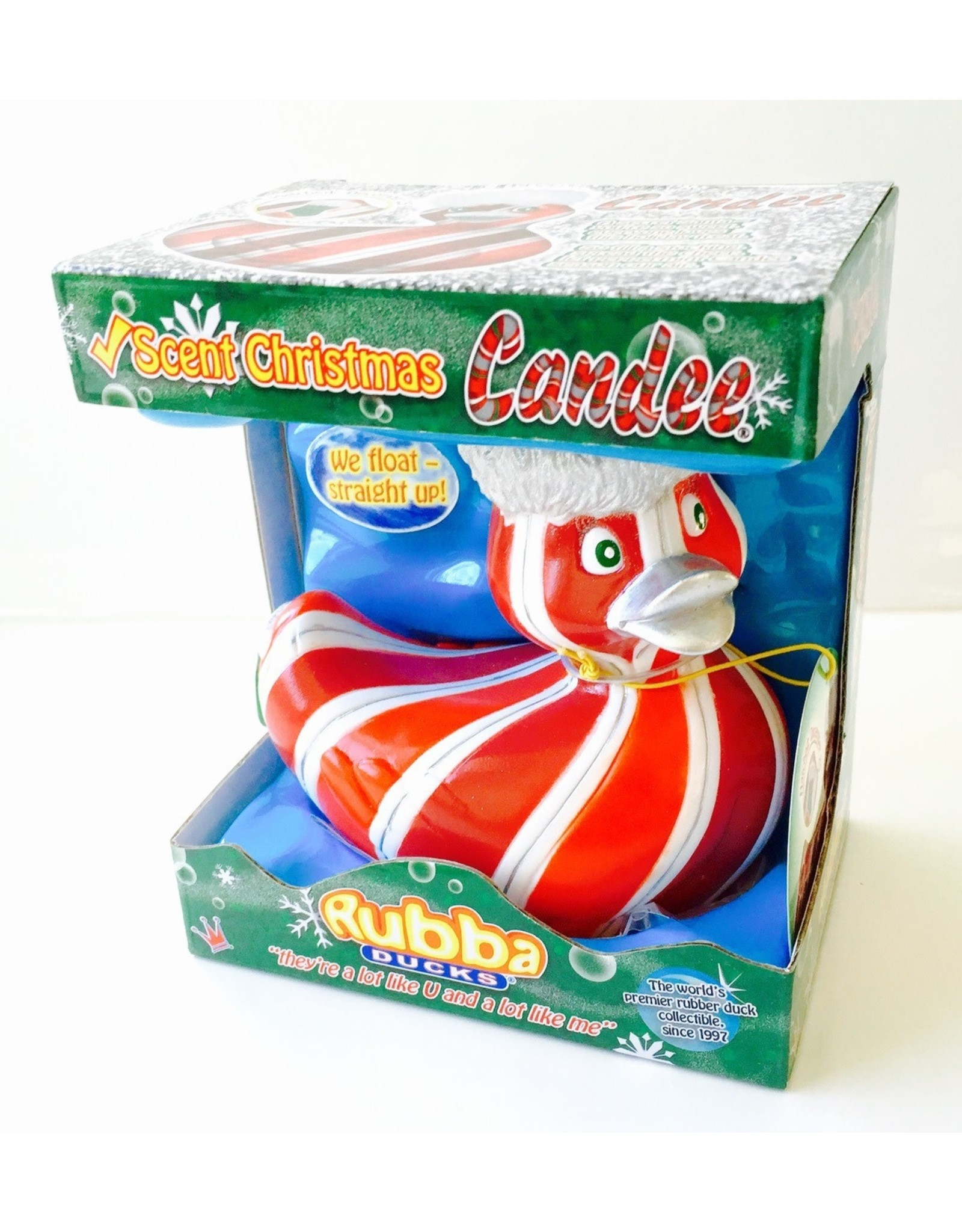Candee - CandyCane Rubber Duck