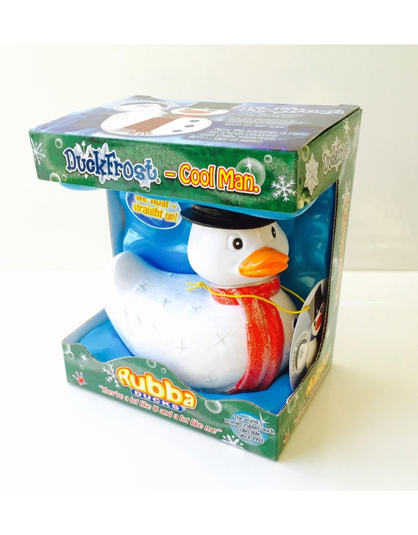 Duckfrost the Snowman Rubber Duck
