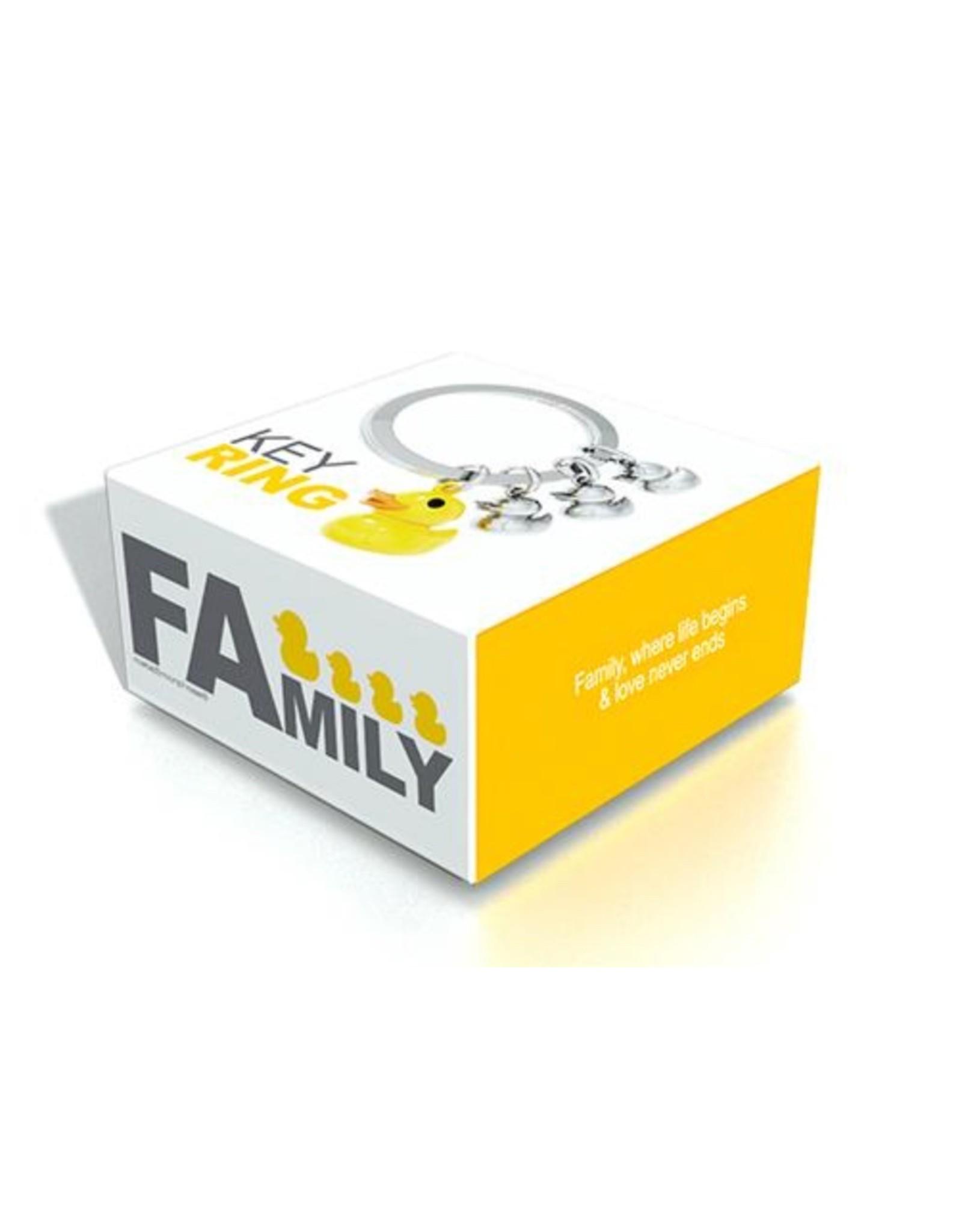 Rubber Duck Family Key Ring