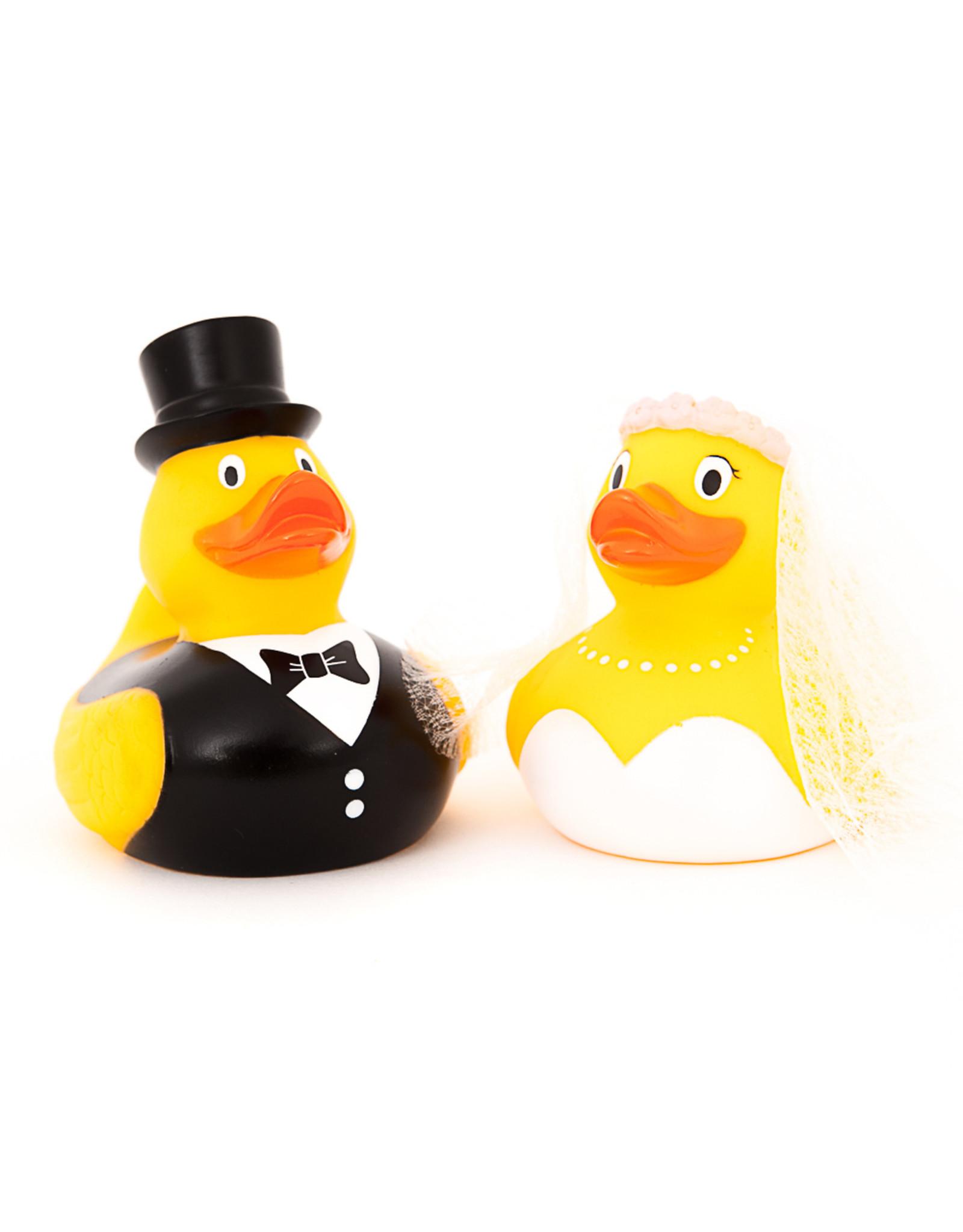 Just Ducks Own Bride & Groom Rubber Duck Set