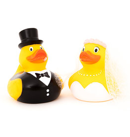 Just Ducks Own Bride & Groom Rubber Duck Set