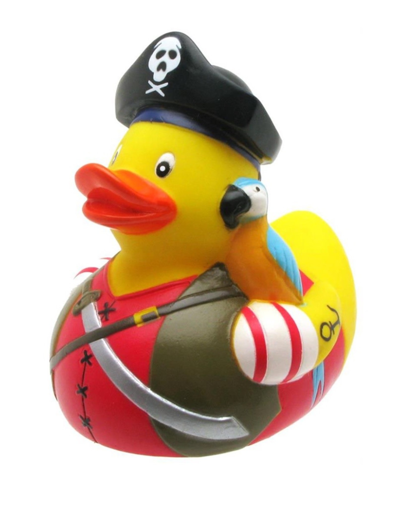 Pirate with Parrot Rubber Duck