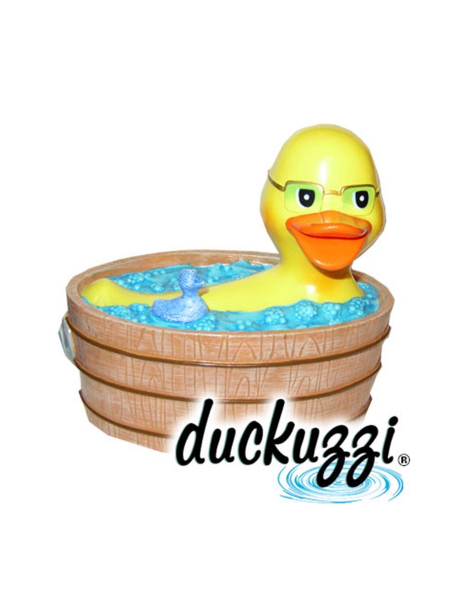 Duckuzzi in a Wooden Jacuzzi Rubber Duck