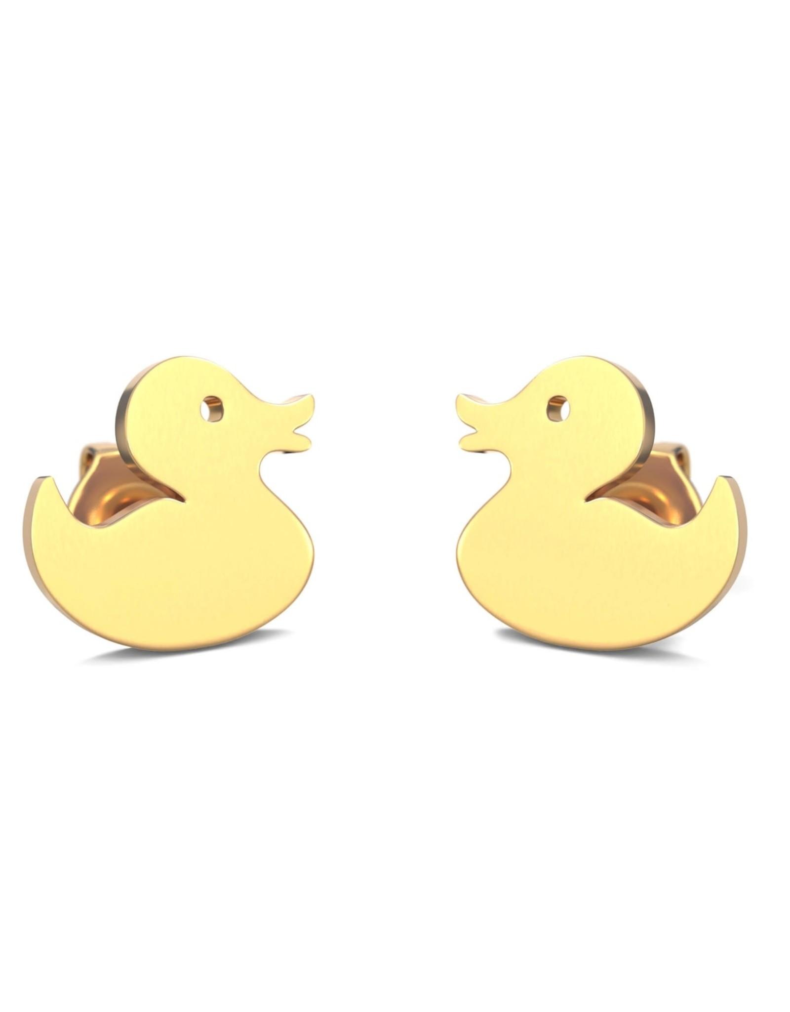 Rubber Duck Earrings - Gold