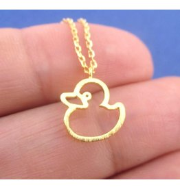 Gold-Plated Rubber Ducky Pendant