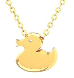 Rubber Duck Pendant & Chain - Gold