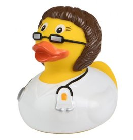 Brunette Doctor Rubber Duck