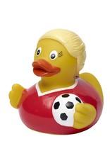 Soccer Girl Rubber Duck
