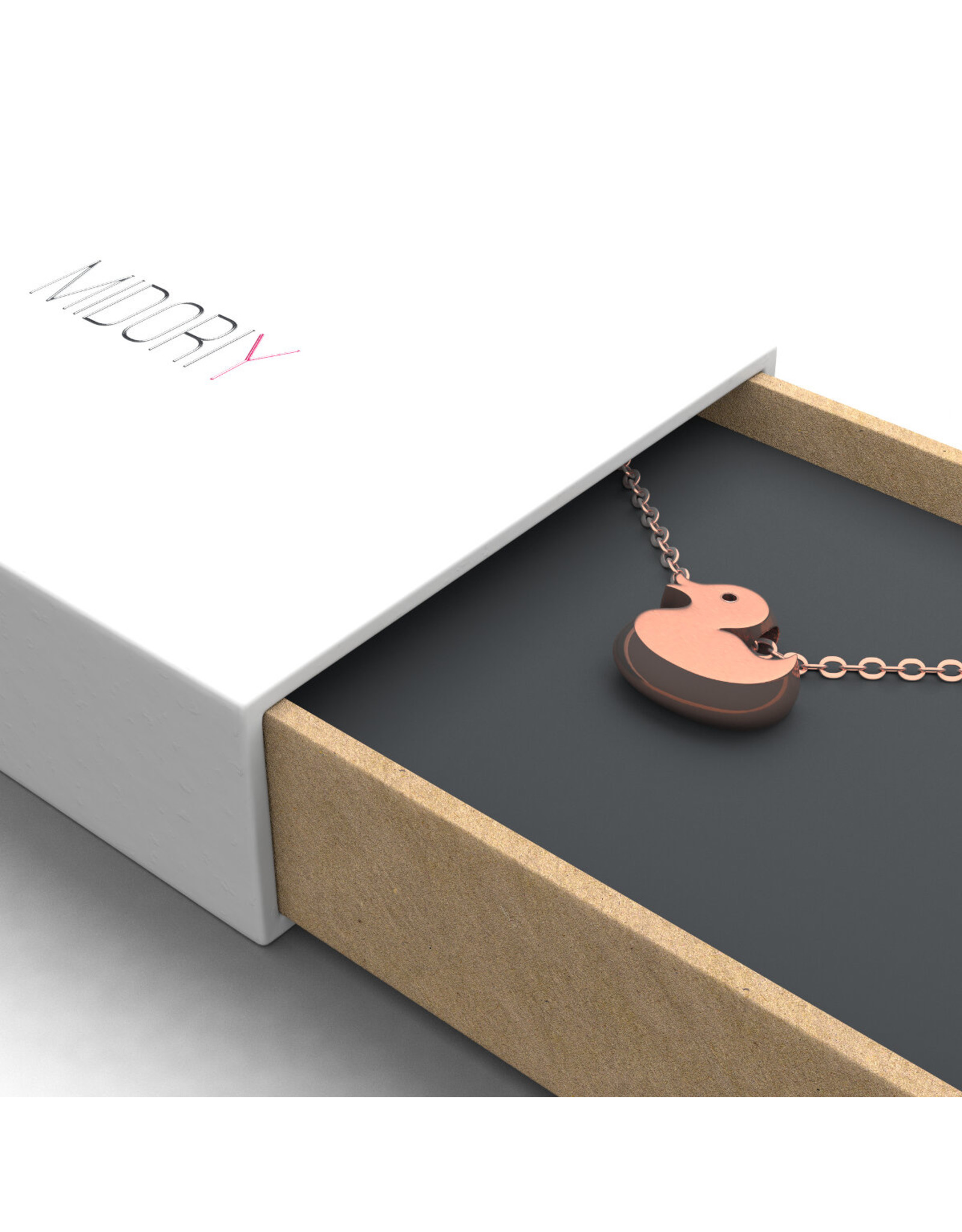 Collier à pendentif -  or rose