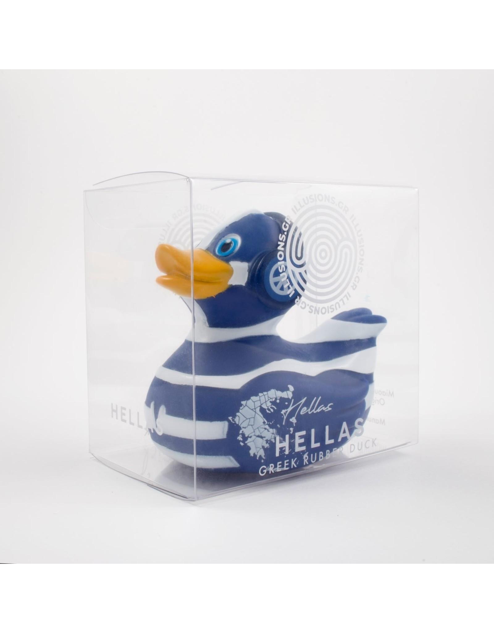 Illusions Hellas - Greek Flag Rubber Duck