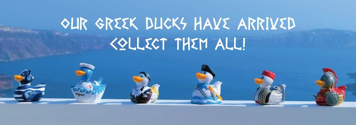 Opa! Shop our Greek Rubber Duckies!