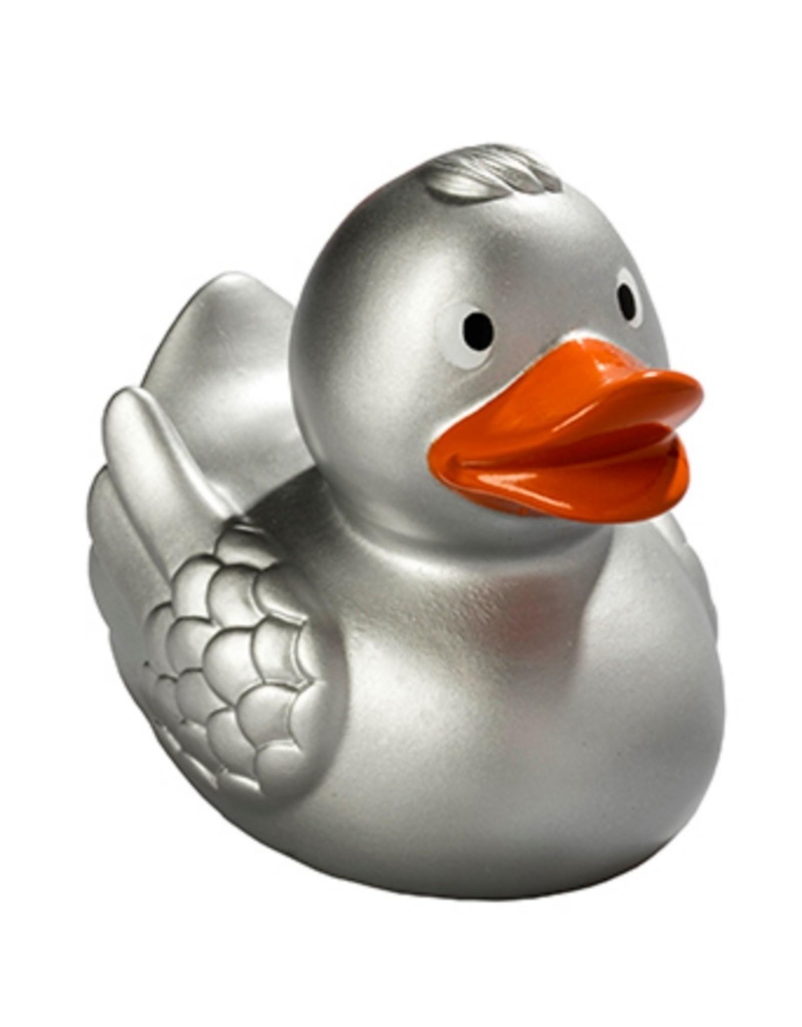 Silver Rubber Duck