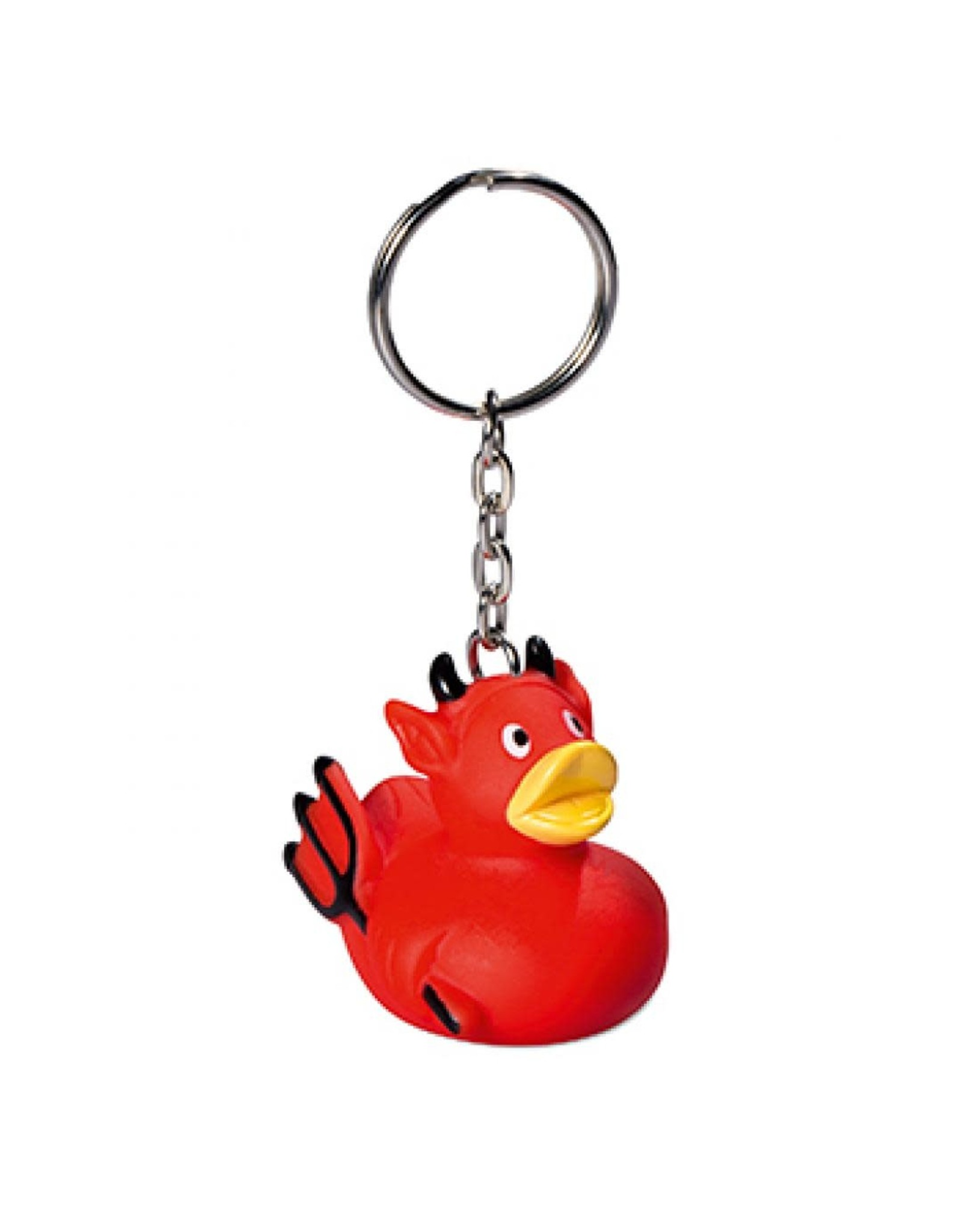 Mini Devil Rubber Duck Keychain