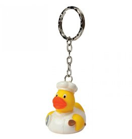 Mini Chef Rubber Duck Keychain