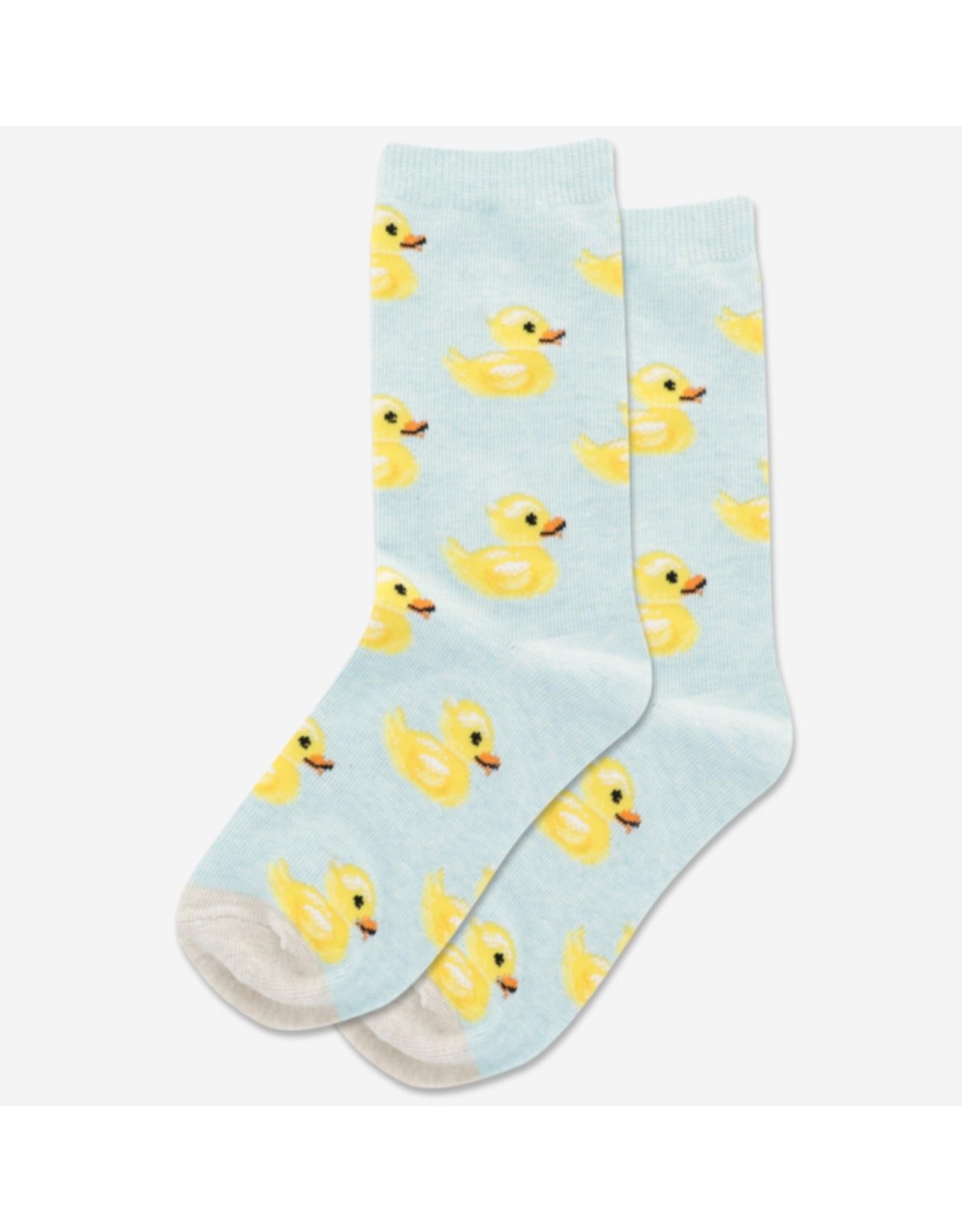 Kids  Rubber Ducky Socks Mint