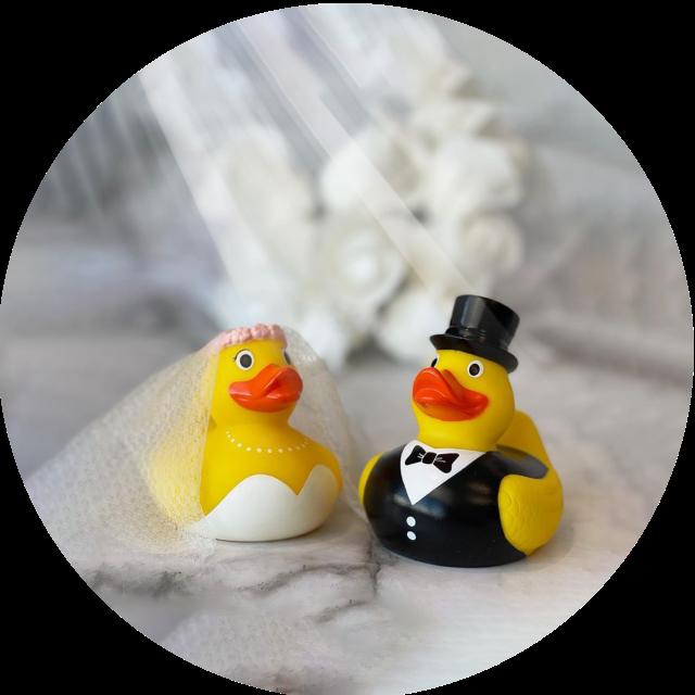 Bride and Groom Wedding Rubber Ducks
