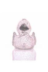 Silver Glitter Rubber Duck