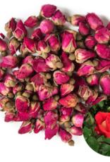 Red Rosebuds and Petals - Organic