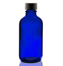 4 oz Blue Glass Bottle - w/ Poly Seal Cone Cap