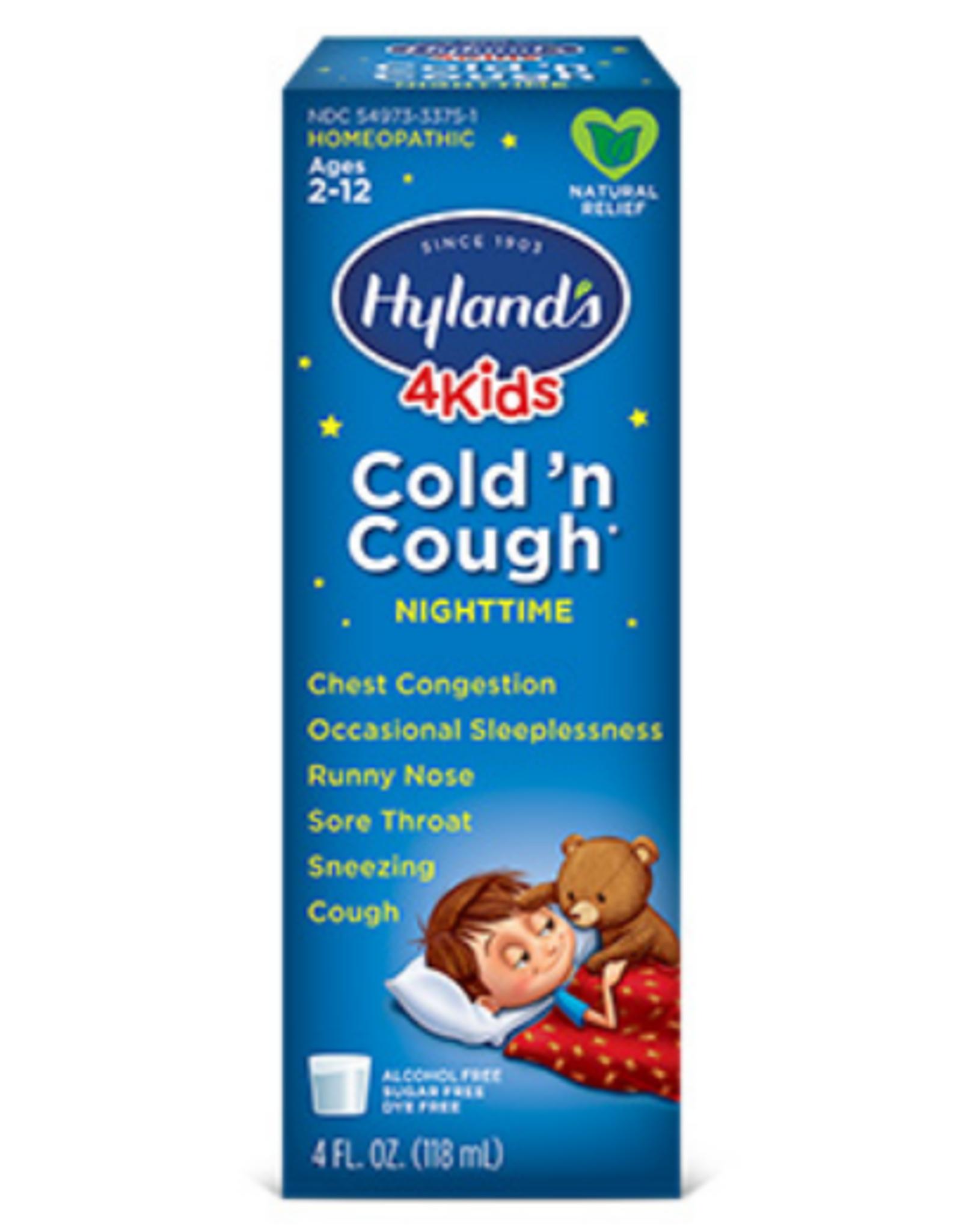 Hylands Kids Cold 'n Cough Nighttime - Natural Grape Flavor - 4 fl oz