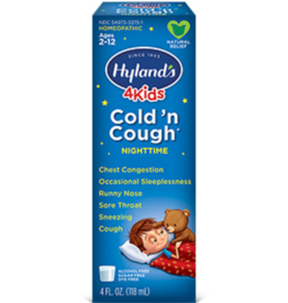 Hylands Kids Cold 'n Cough Nighttime - Natural Grape Flavor - 4 fl oz