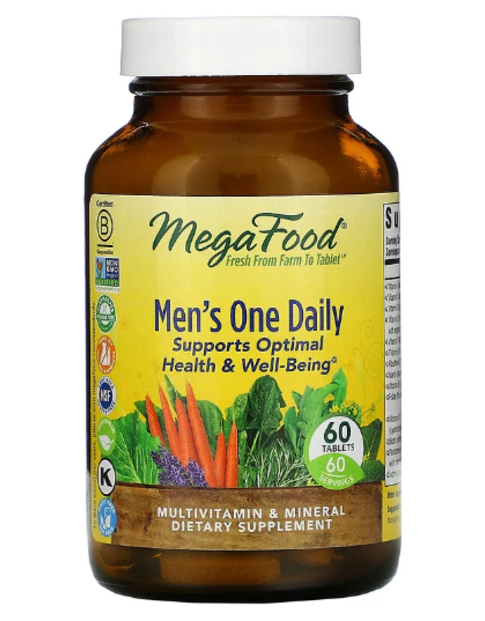 MegaFood MegaFood - Men's One Daily - 60 Tablets