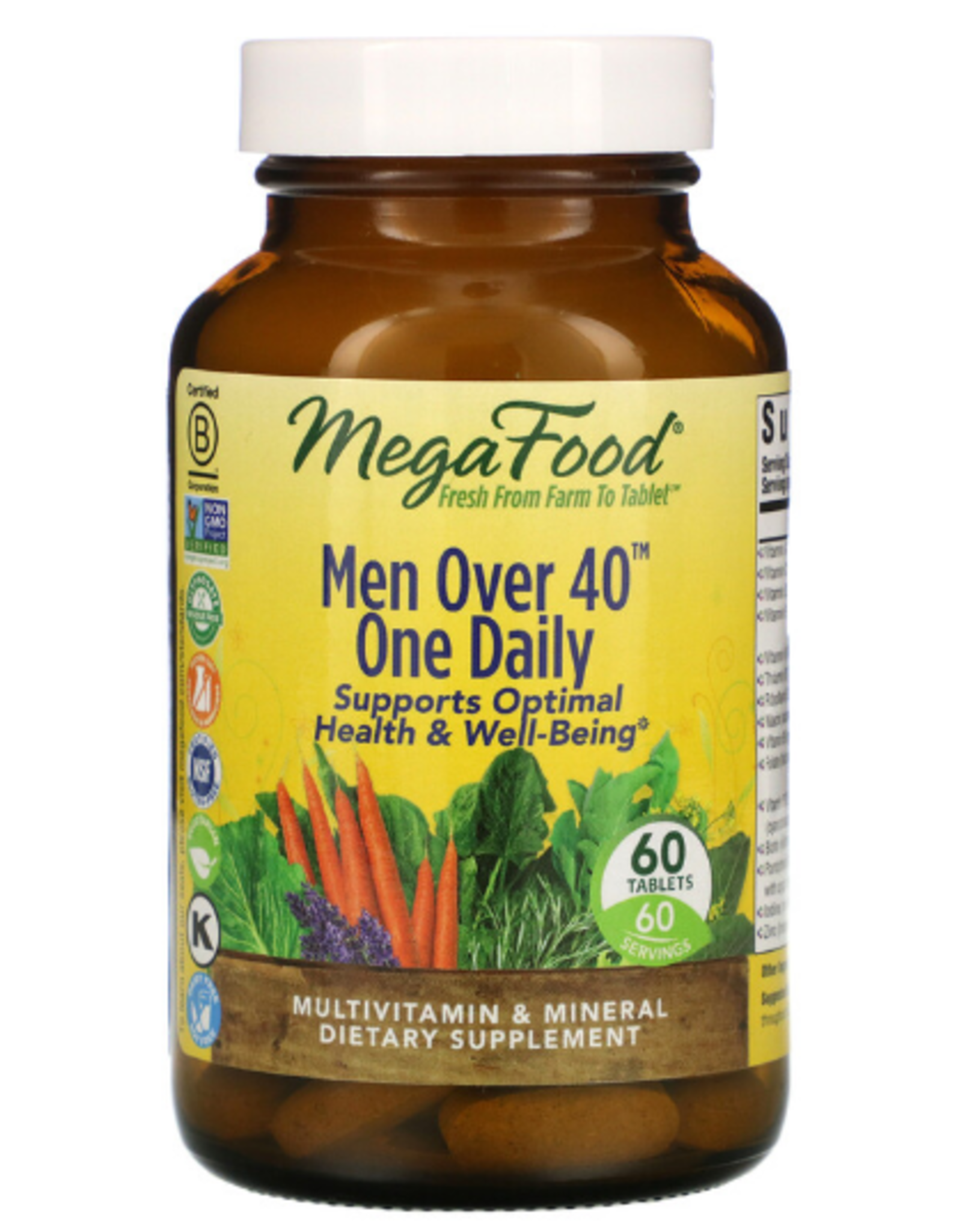MegaFood MegaFood - Men Over 40 One Daily - 60 Tablets