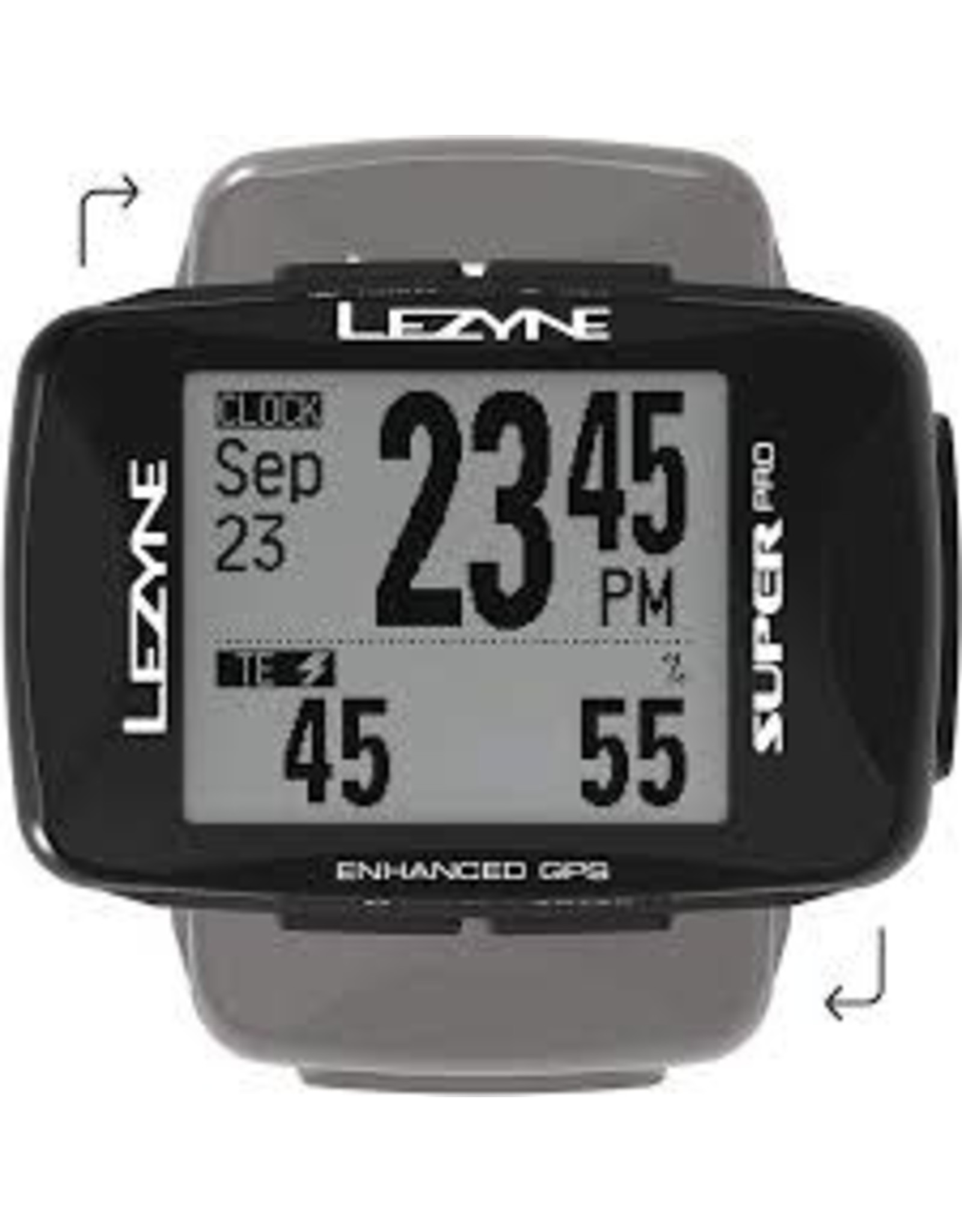 Lezyne Super Pro GPS Loaded Bike Computer - GPS, Wireless, Heart Rate Monitor, Black
