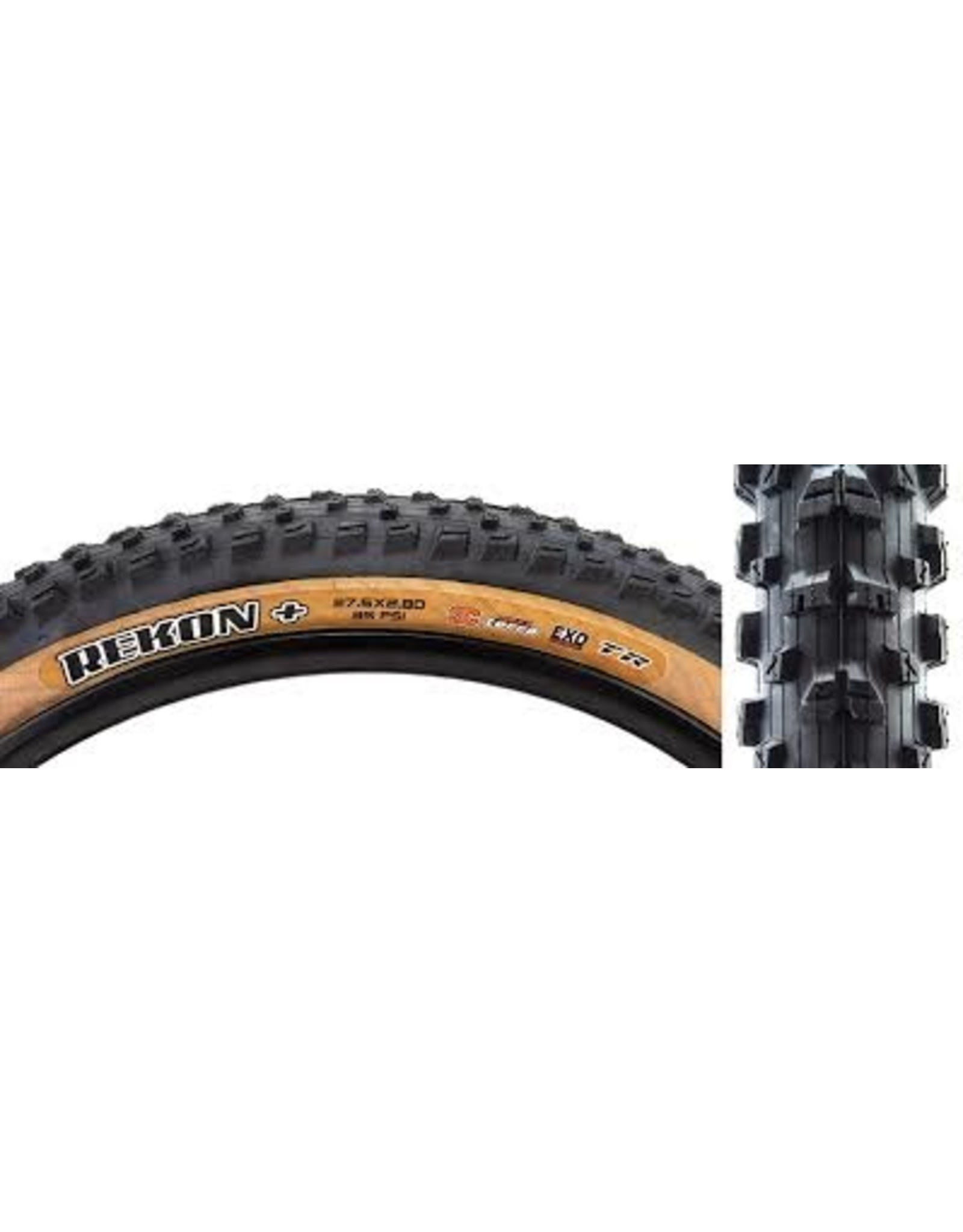 Maxxis Rekon Plus Tire - 27.5 x 2.8, Tubeless, Folding, Black/Tan, 3C Maxx Terra, EXO