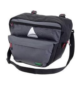 Axiom Seymour Oceanweave P7 Handlebar Bag: Black/Gray