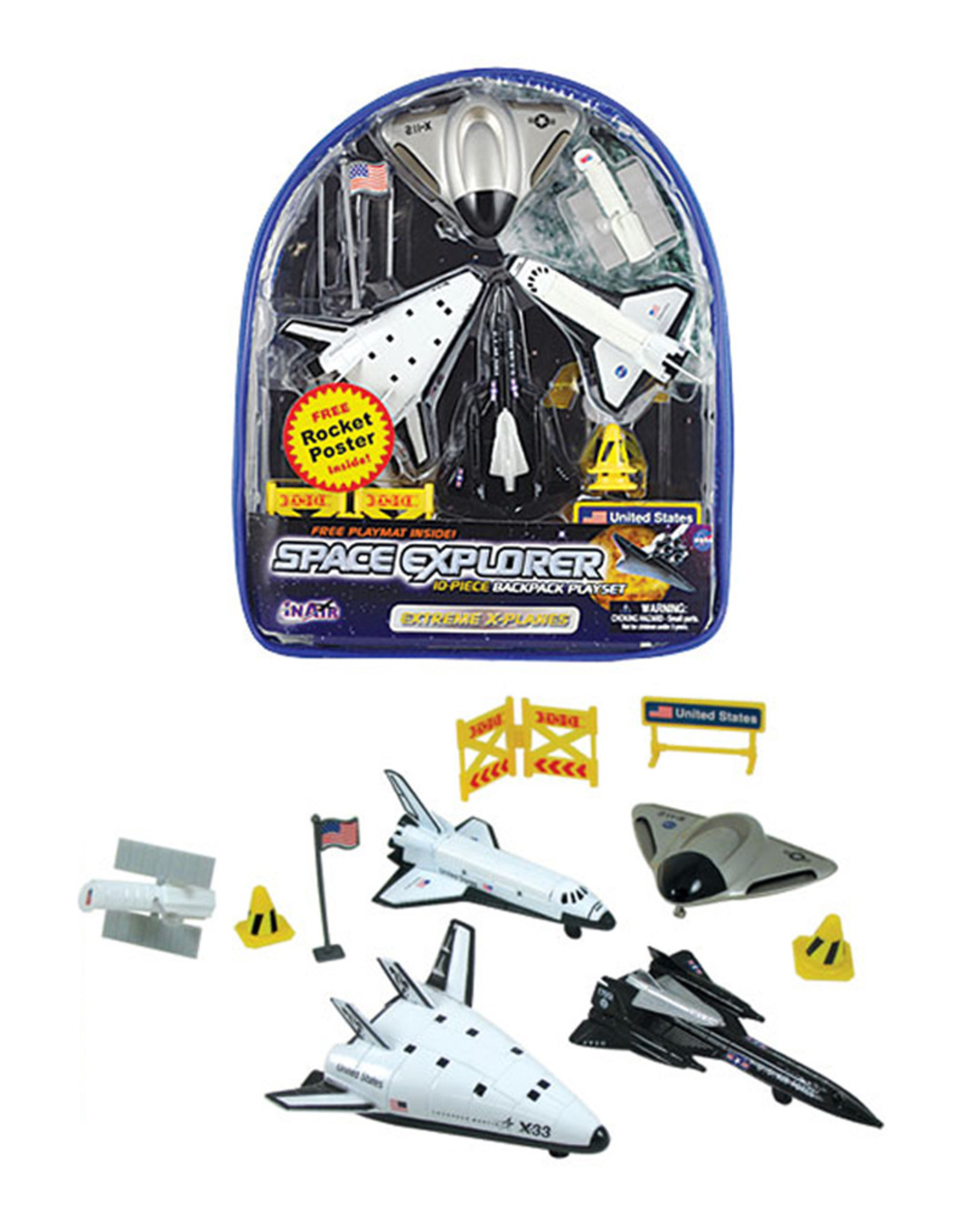 Space Explorer Backpack Set - Extreme X Planes
