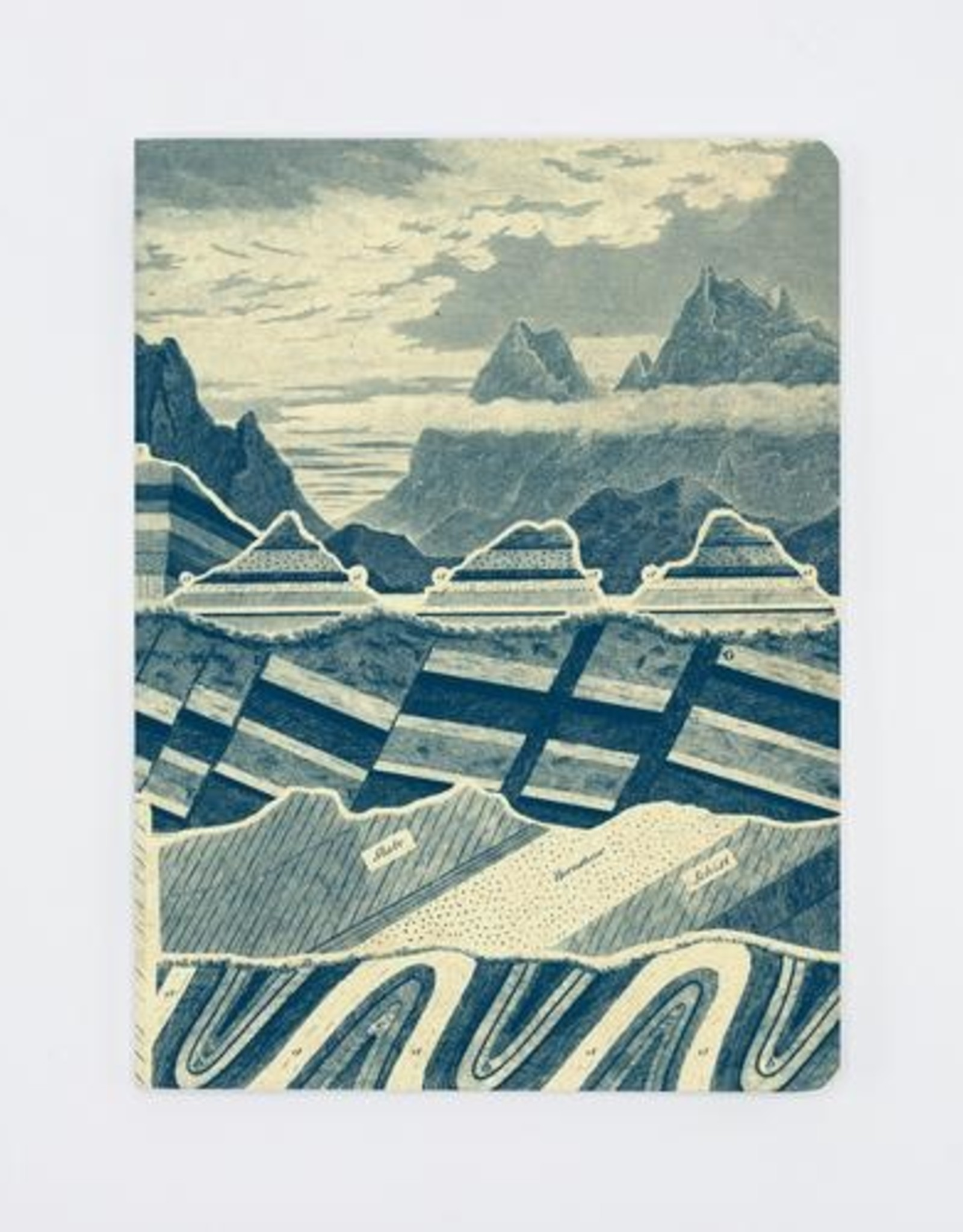 Geological Strata Layers of the Earth Softcover Notebook