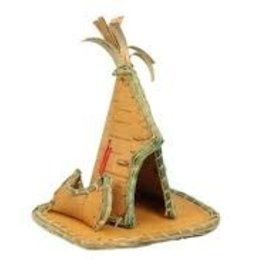 Birch Bark Tee-Pee & Canoe